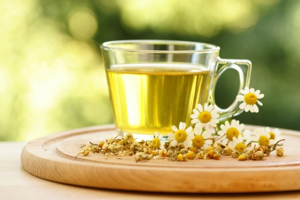 Have hot chamomile tea for curing common cold